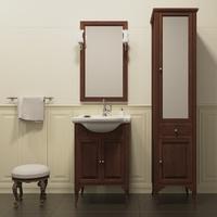 Комплект мебели для ванной комнаты OPADIRIS ГЛОРИЯ 55 СВЕТЛЫЙ ОРЕХ
