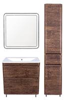 Комплект мебели Style Line Атлантика 80, напольная, Люкс старое дерево, PLUS