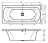 Ванна акриловая RIHO LIMA 150x75