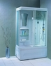 Душевая прямоугольная кабина с ванной Appollo TS-41W R
