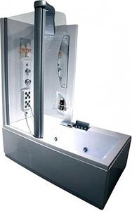 Душевая прямоугольная кабина с ванной Appollo AW-5032 L