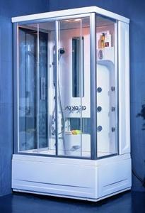 Душевая прямоугольная кабина с ванной Appollo TS-120W