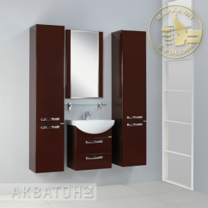 Комплект мебели для ванной комнаты Акватон Ария 50 М темно-коричневый