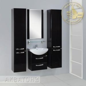 Комплект мебели для ванной комнаты Акватон Ария 50 М черный