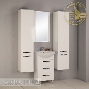 Комплект мебели для ванной комнаты Акватон Ария 50 Н Белый