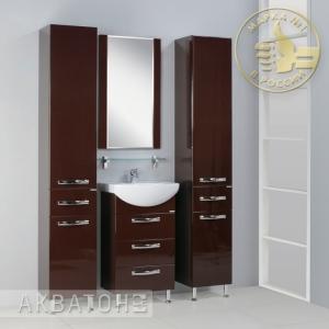 Комплект мебели для ванной комнаты Акватон Ария 50 Н темно-коричневый