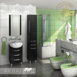 Комплект мебели для ванной комнаты Акватон Ария 50 Н черный