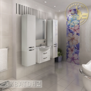 Комплект мебели для ванной комнаты Акватон Ария 65 М белый