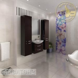 Комплект мебели для ванной комнаты Акватон Ария 65 М темно-коричневый