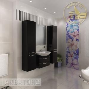 Комплект мебели для ванной комнаты Акватон Ария 65 М черный