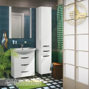 Комплект мебели для ванной комнаты Акватон Ария 65 Н Белый