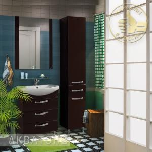 Комплект мебели для ванной комнаты Акватон Ария 65 Н темно-коричневый