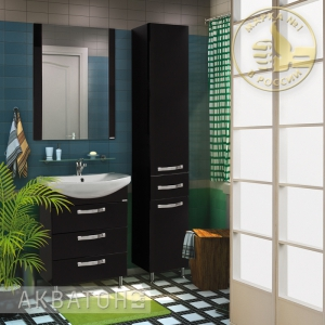 Комплект мебели для ванной комнаты Акватон Ария 65 Н черный