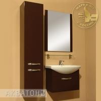 Комплект мебели для ванной комнаты Акватон Ария 65 темно-коричневый