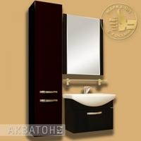 Комплект мебели для ванной комнаты Акватон Ария 65 черный