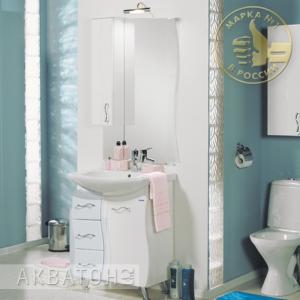 Комплект мебели для ванной комнаты Акватон Дионис 67 белый