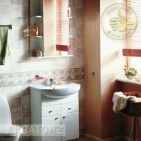 Комплект мебели для ванной комнаты Акватон Кристалл 65 белый