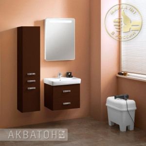 Комплект мебели для ванной комнаты Акватон Америна 60 темно-коричневый