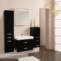 Комплект мебели Акватон Америна 70 черный