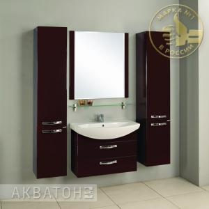 Комплект мебели Акватон Ария 80 M тёмно-коричневая
