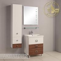 Комплект мебели для ванной комнаты  Акватон Стамбул 65 эбони темный