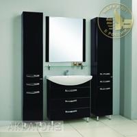 Комплект мебели Акватон Ария 80 H чёрный глянец