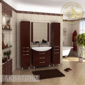 Комплект мебели Акватон Ария 80 H тёмно-коричневый