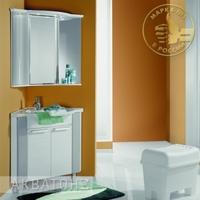 Комплект мебели для ванной комнаты Акватон Альтаир 62 бело-серый