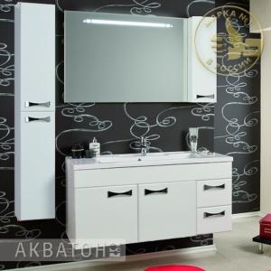Комплект мебели Акватон Диор 120 Белый