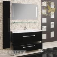Комплект мебели Акватон Мадрид 100 черный глянец
