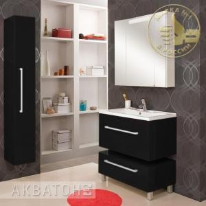 Комплект мебели Акватон Мадрид 80 чёрный глянец