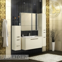 Комплект мебели Акватон Валенсия 110 Белый жемчуг