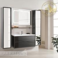 Комплект мебели Акватон Римини 100 черный глянец