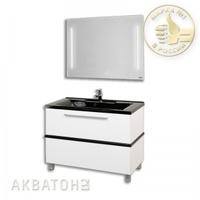 Комплект мебели Акватон Турин 100 белый с черным