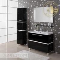 Комплект мебели Акватон Турин 100 черный
