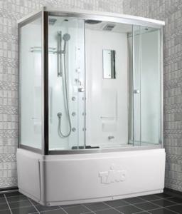 Душевая прямоугольная кабина с ванной TIMO T-7770