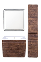 Комплект мебели Style Line Атлантика 80, подвесная, Люкс старое дерево, PLUS