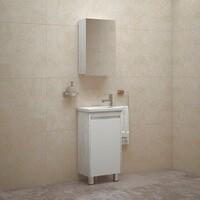 Комплект мебели для ванной комнаты COROZO Остин 45 пайн белый