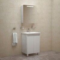 Комплект мебели для ванной комнаты COROZO Остин 60 пайн белый