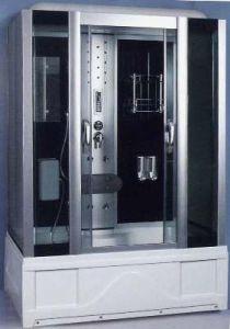 Душевая прямоугольная кабина с ванной Huber HX-413
