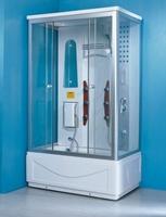 Душевая прямоугольная кабина с ванной OSK-812