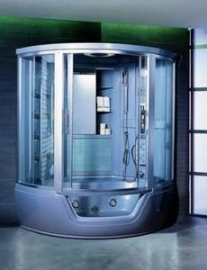 Душевая угловая кабина с ванной Appollo GUCI-861 СЕРАЯ
