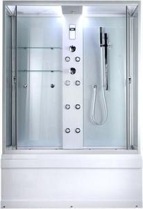 Душевая прямоугольная кабина с ванной TIMO TL-1506