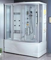Душевая прямоугольная кабина с ванной Appollo A-0830 BS