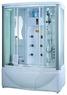 Душевая прямоугольная кабина с ванной Apollo A-0828
