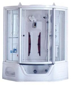 Душевая угловая кабина с ванной Appollo A-0819