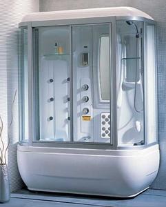 Душевая прямоугольная кабина с ванной Apollo А-0734