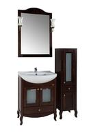 Комплект мебели для ванной комнаты ASB Woodline Флоренция-65 Витраж бук  (Массив ясеня)