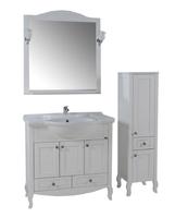 Комплект мебели ASB Woodline Флоренция-105 белый (Массив ясеня)