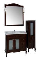 Комплект мебели ASB Woodline Флоренция квадро 80 витраж орех (Массив ясеня)